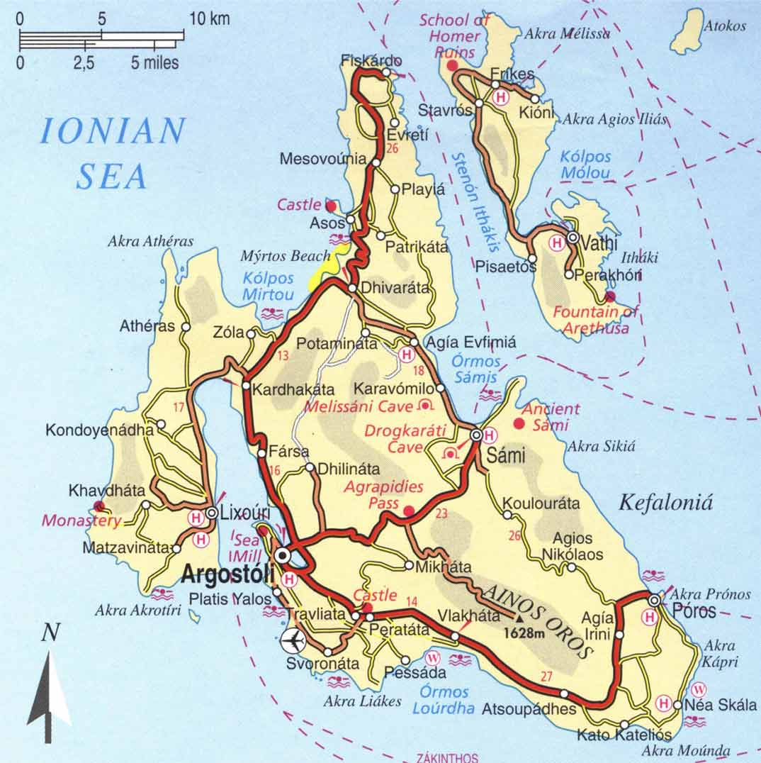 Kefalonia Island Greece Kefalonia Greece Map Citiestips Com