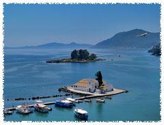 Pontikonisi Corfu island