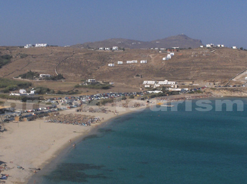 Kalo Livadi Beach in Mykonos Cyclades  Kalo Livadi Beach ...