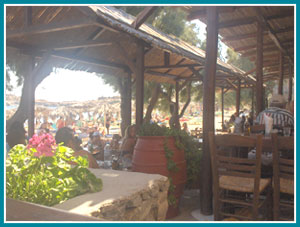 Greek food tavern in Mykonos