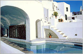 Fanari Villas Swimming pool  Cyclades Greece