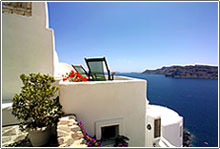 Fanari Villas volcano view  Santorini Greece