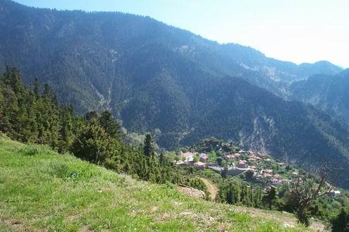 Σπάνιας φυσικής ομορφιάς τοπίο στην Ορεινή Ναυπακτία, Στερεά Ελλάδα.